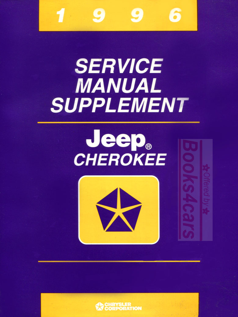 REAL BOOK Shop Service Repair Manual Supplement by Jeep for all 1996  Cherokee models covering driveline & transfer case. Book is in very good  condition