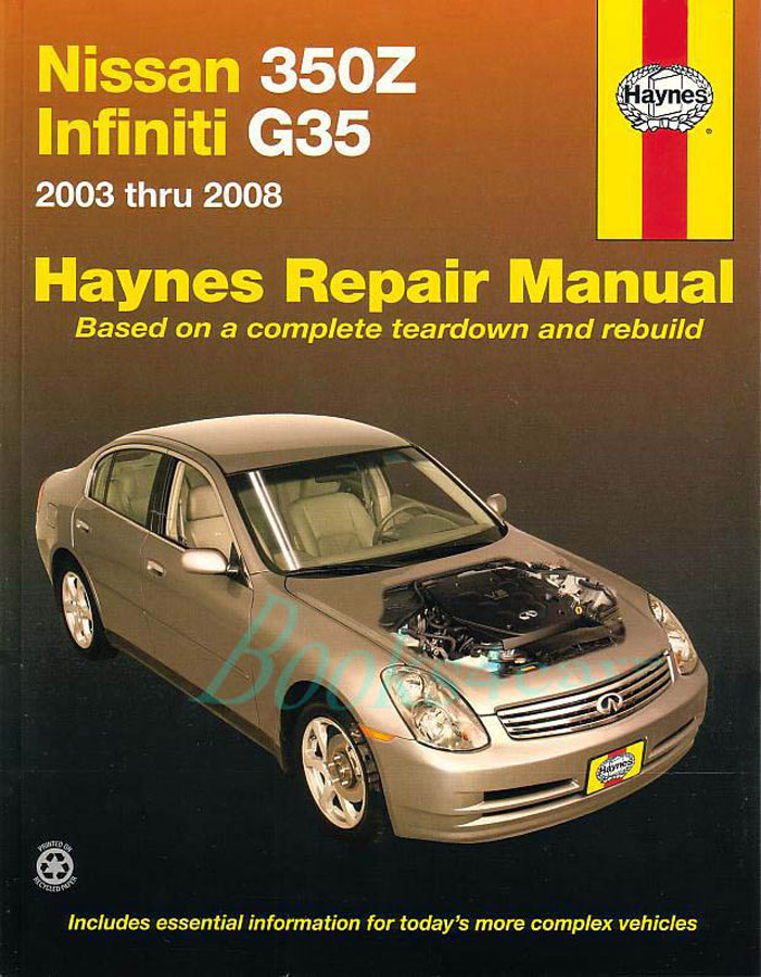 shop manual 350z g35 service repair nissan infiniti book haynes rh ebay com Ford F-250 Manual Manual Mitsubishi Minicab