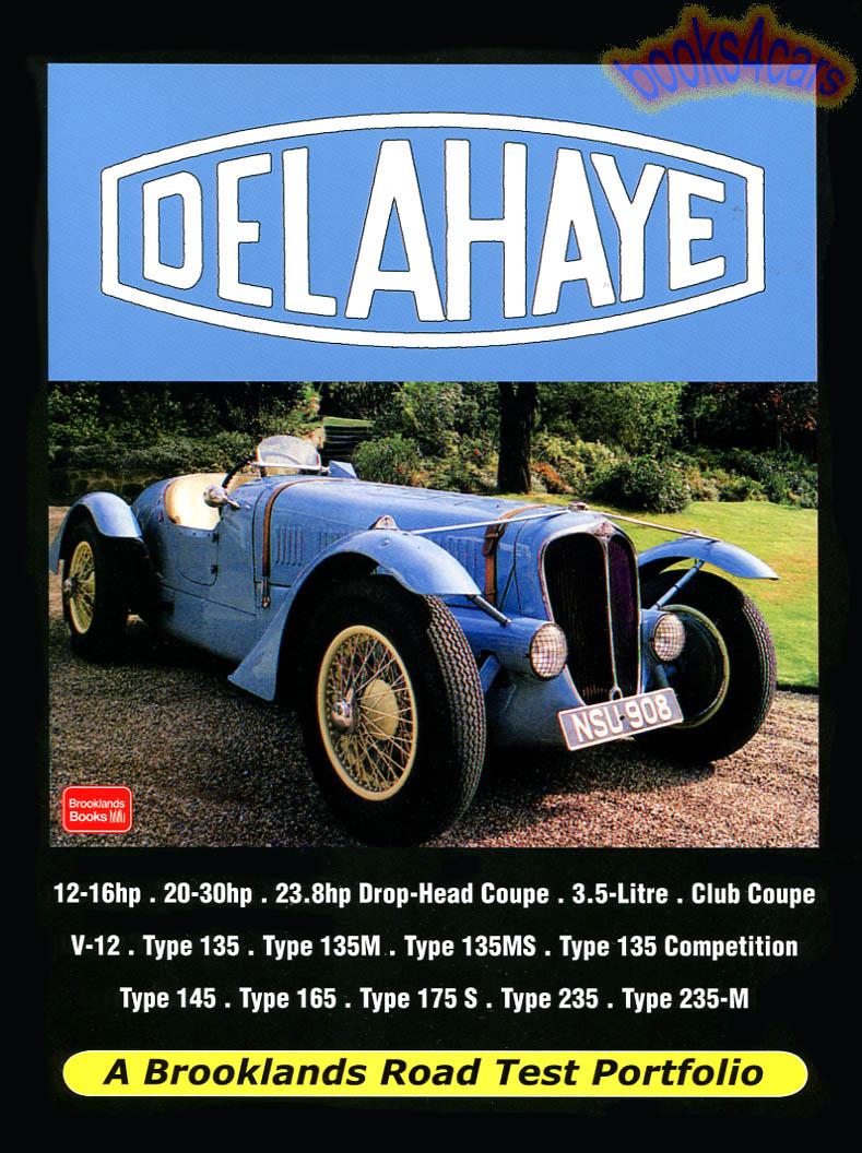 Delahaye Manuals at Books4Cars.com