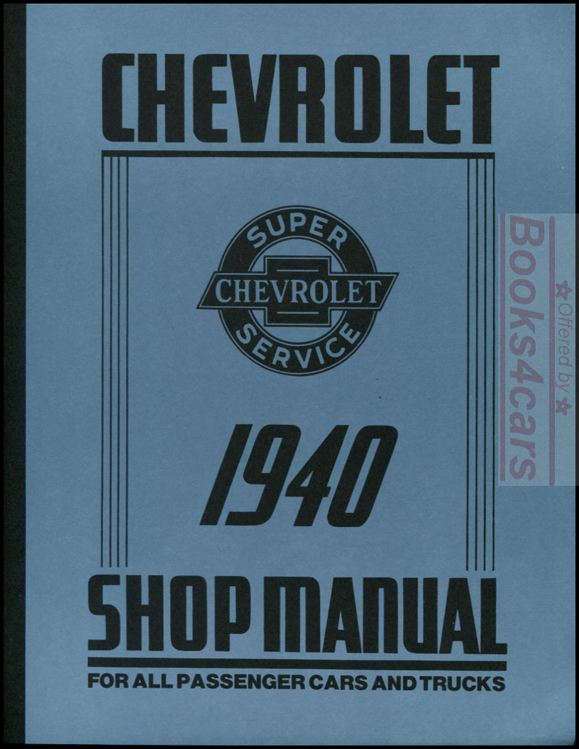 Chevrolet Manuals At 1954 Chevy 210 Wiring Diagram 40 Shop Manual By For Cars And Trucks 282 Pages Psm