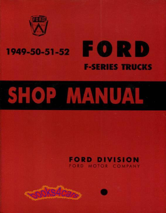 shop manual service repair ford truck book pickup f series workshop rh ebay com service manual for mazda f8 engine Mazda Owners ManualDownload