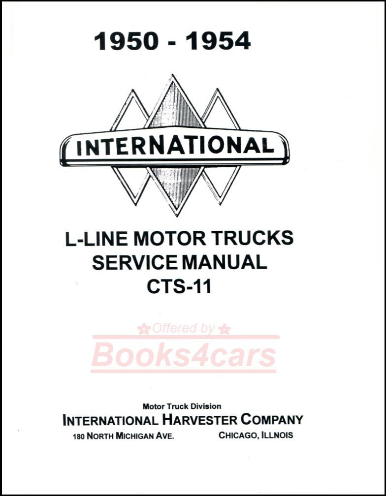 International Shop Service Manuals At 1970 Scout Wiring Diagram 50 55 L Line Repair Manual By Truck Includes R Series Supplement 52 1149