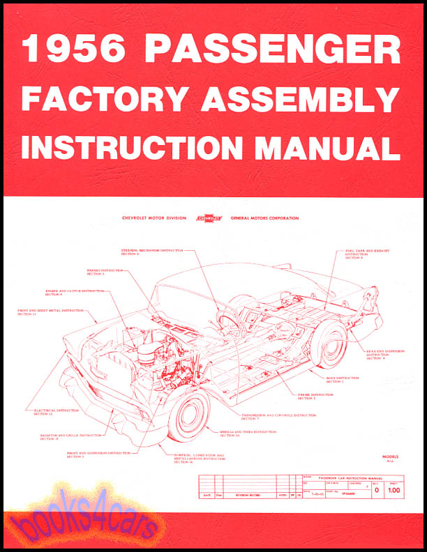 1956 CHEVROLET ASSEMBLY MANUAL SHOP BOOK RESTORATION GUIDE HOW TO ...