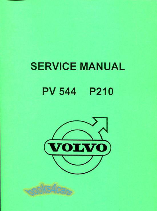 shop manual service repair volvo pv544 book workshop restoration rh ebay com 1966 PV544 PV544 Logo