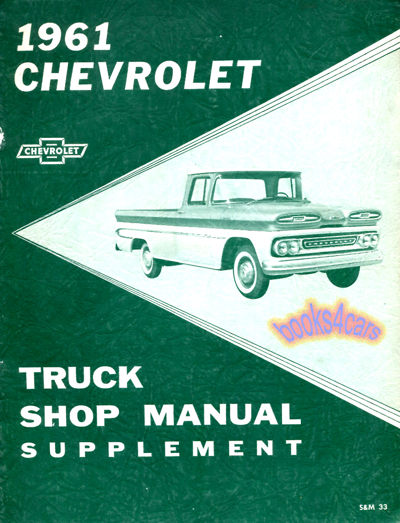 Chevrolet Truck Manuals At Gm Wiring Diagrams 1993 Suburban 4x4 61 Shop Manual Supplement To 1960 By Tsm