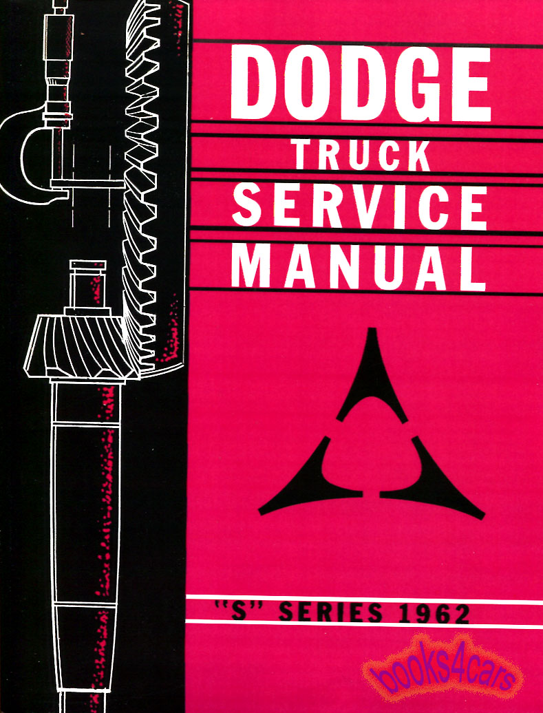 1962 dodge shop manual truck service repair book pickup ebay. Black Bedroom Furniture Sets. Home Design Ideas