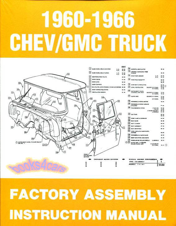 assembly manual truck restoration guide chevrolet gmc gmc acadia factory service manual gmc factory manuals