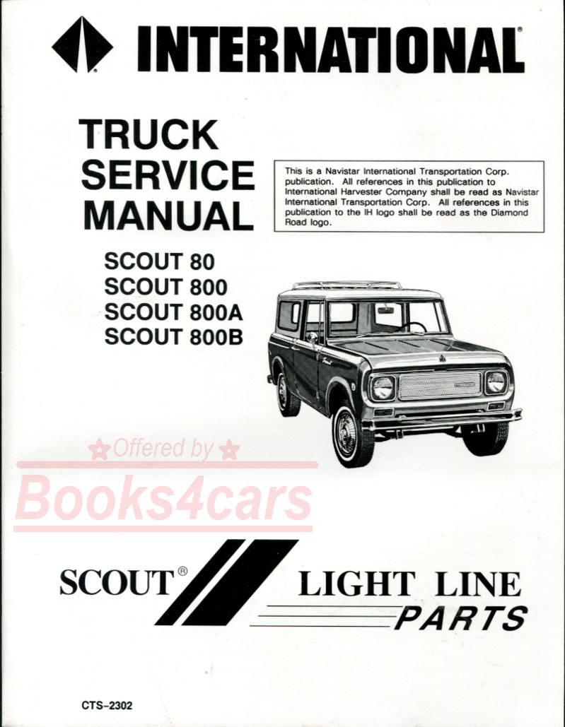 International Shop Service Manuals At Ih 784 Wiring Diagram 61 71 Scout 80 800 800a And 800b Repair Manual By Harvester 65 9469