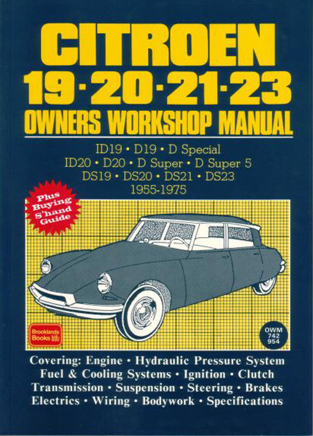 Citroen Ds Shop Manual Service Repair Workshop Book Id Ds21 Ds20 Ds19 Ds23 Ds 21 Ebay
