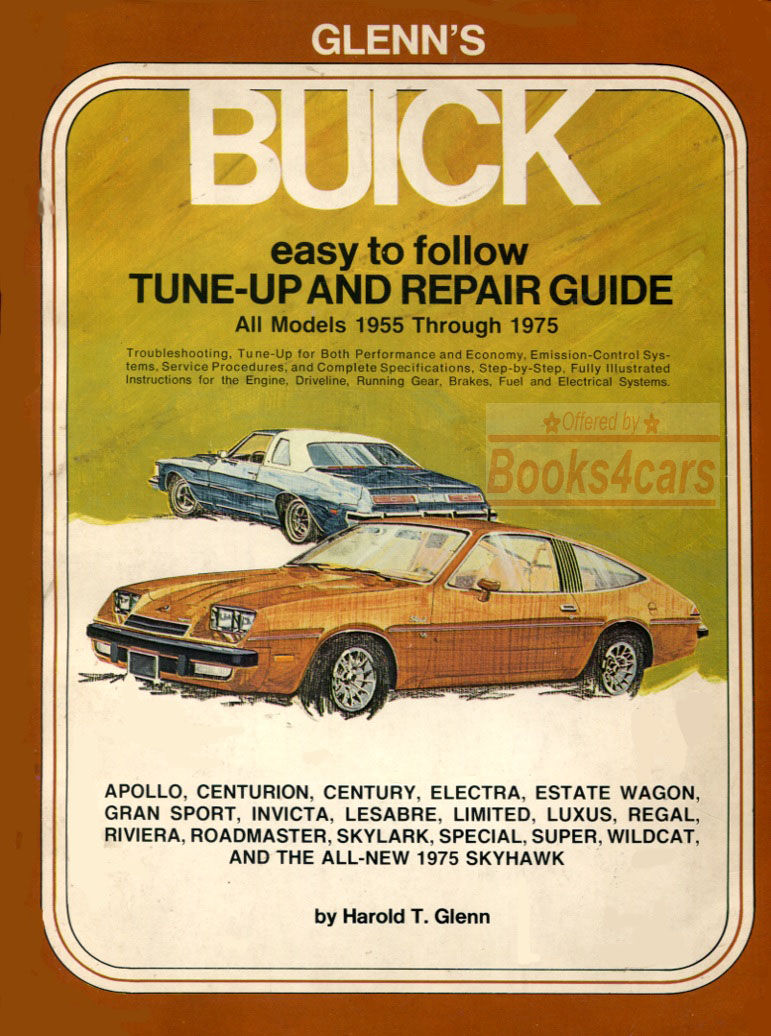 55-75 Buick Shop Service Repair Manual by Glenn's for All models  (65_BuickGlenns) ...