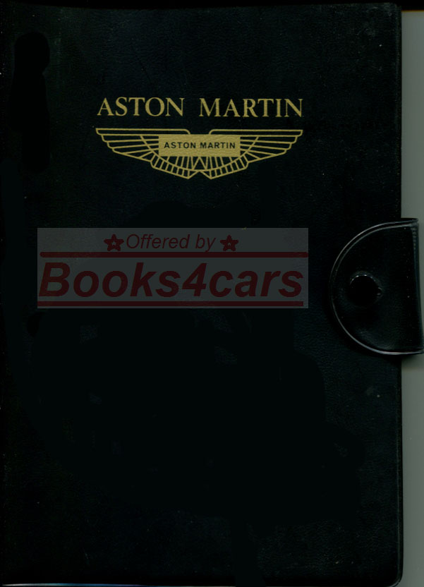 Aston Martin Manuals At Books4cars Com
