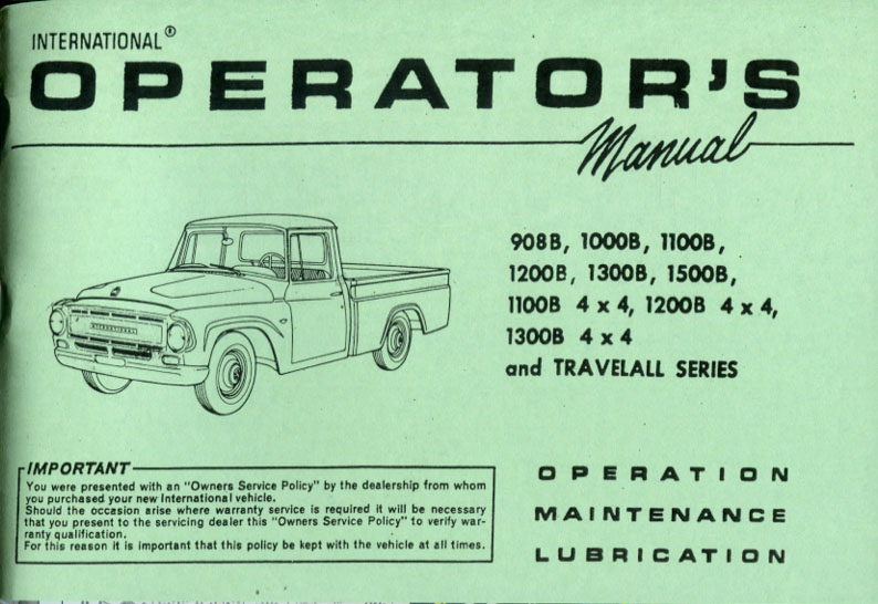 International Truck owners Manual