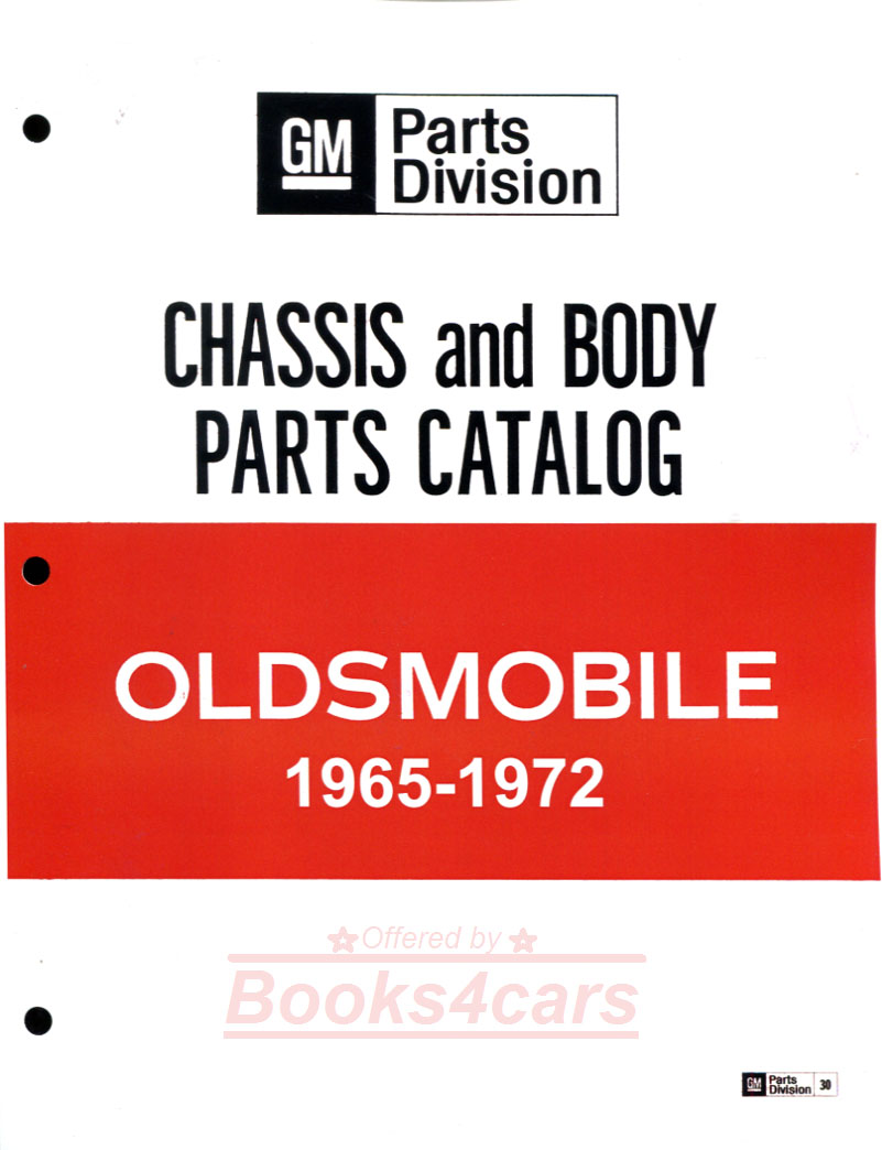 65-72 Parts & Illustrations Manual by Oldsmobile: Over 1,200 pages  (685_399) ...
