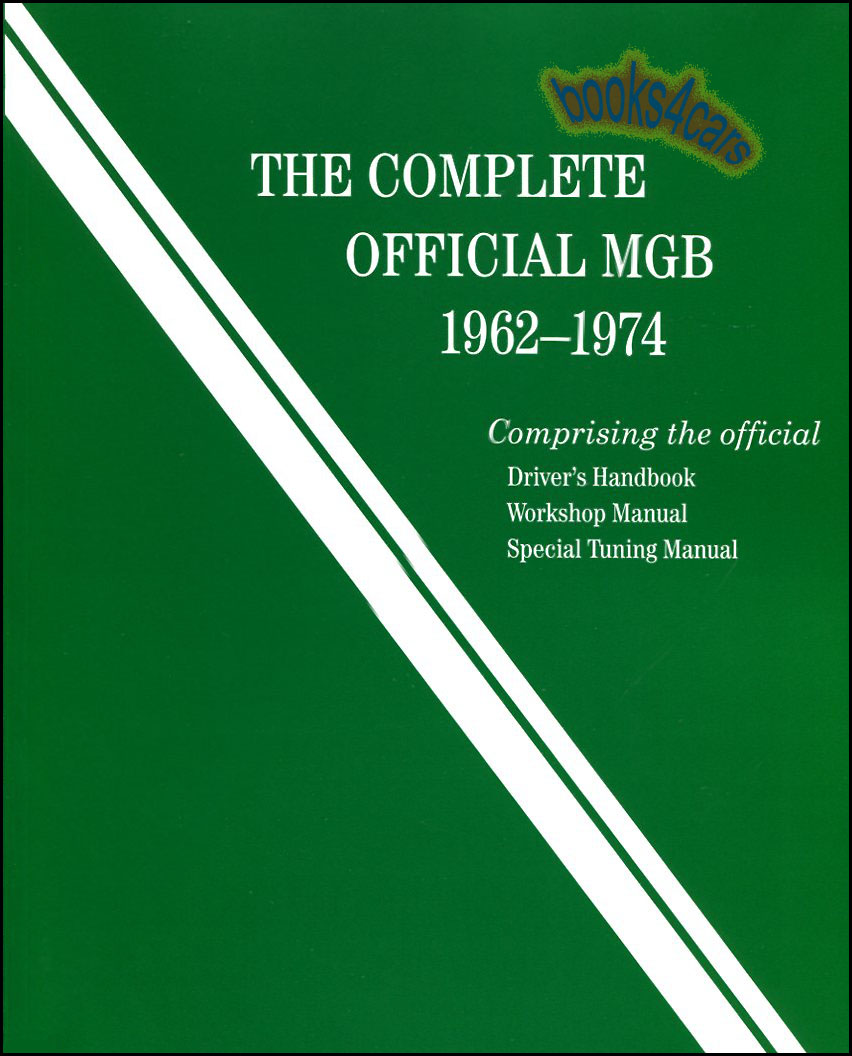 mgb shop manual service repair complete official workshop book rh ebay com Tractor Shop Manuals Tranmission Shop Manuals For