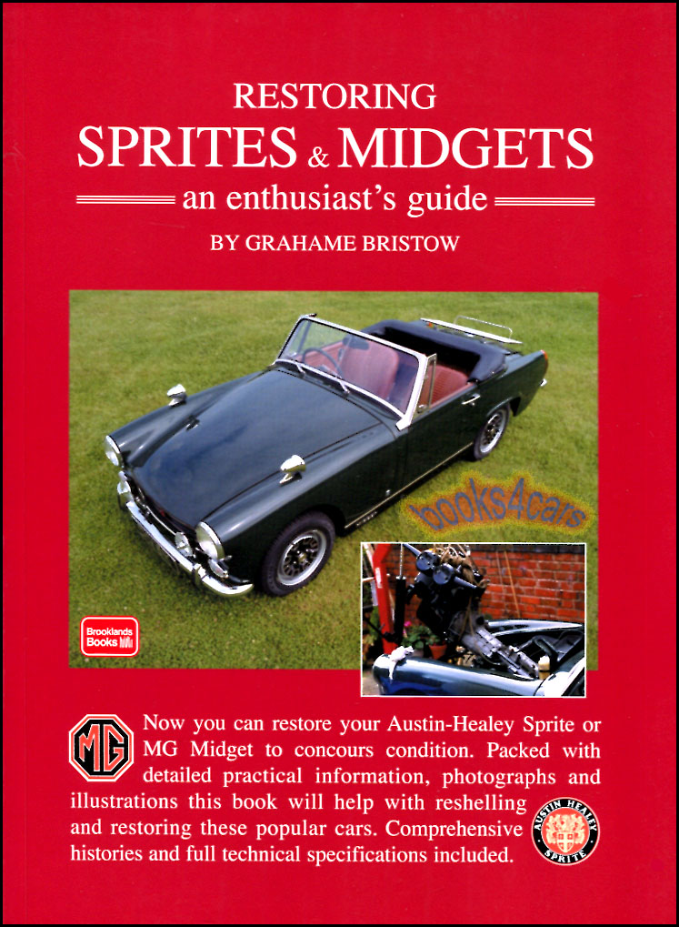 mg midget shop service manuals at com restoring midgets sprites an enthusiast s guide by g bristow 216 pages comprehensive covering all versions from 59 80 incl wiring diagrams color charts