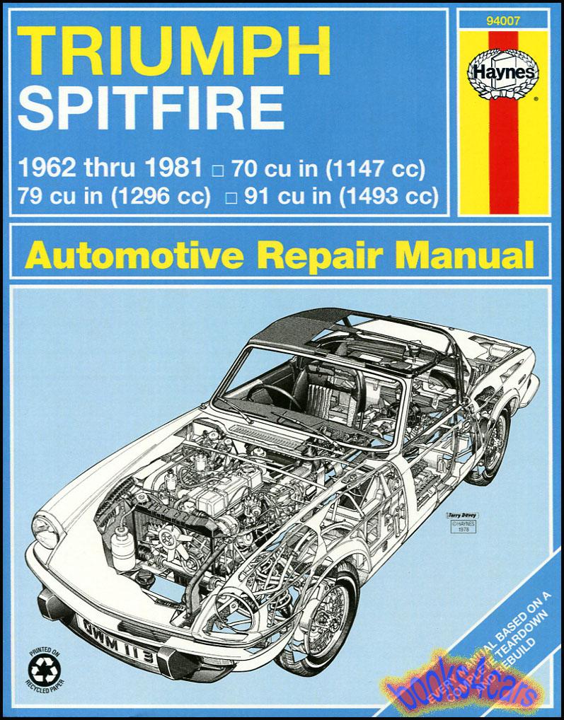 Triumph Spitfire Manuals At Books4carscom