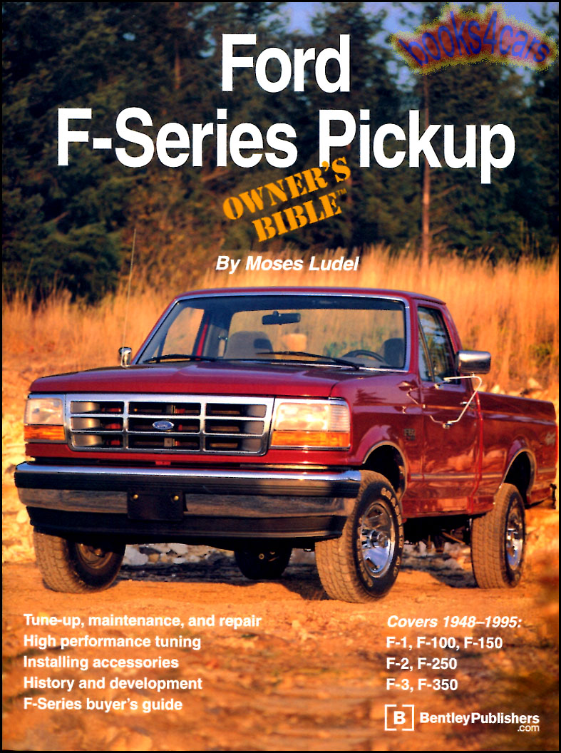 REAL LARGE BOOK 370 pages for all 1948-1995 Ford F-Series Pickups including  F1 F100 F150 F2 F250 F3 F350 and more owners Bible containing all kinds of  ...