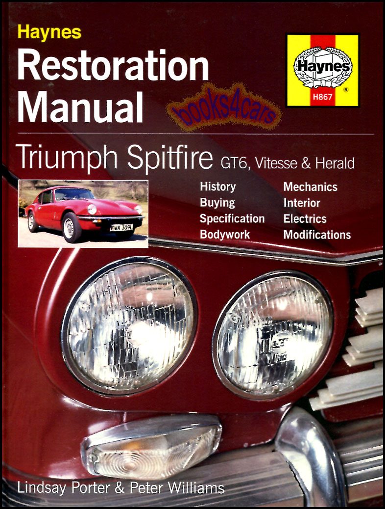 triumph spitfire restoration manual shop repair book restore gt6 rh ebay com triumph gt6 service manual triumph gt6 repair manual