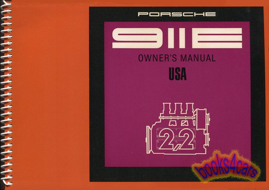 porsche 911 owners manual 1970 911e handbook guide book 2. Black Bedroom Furniture Sets. Home Design Ideas