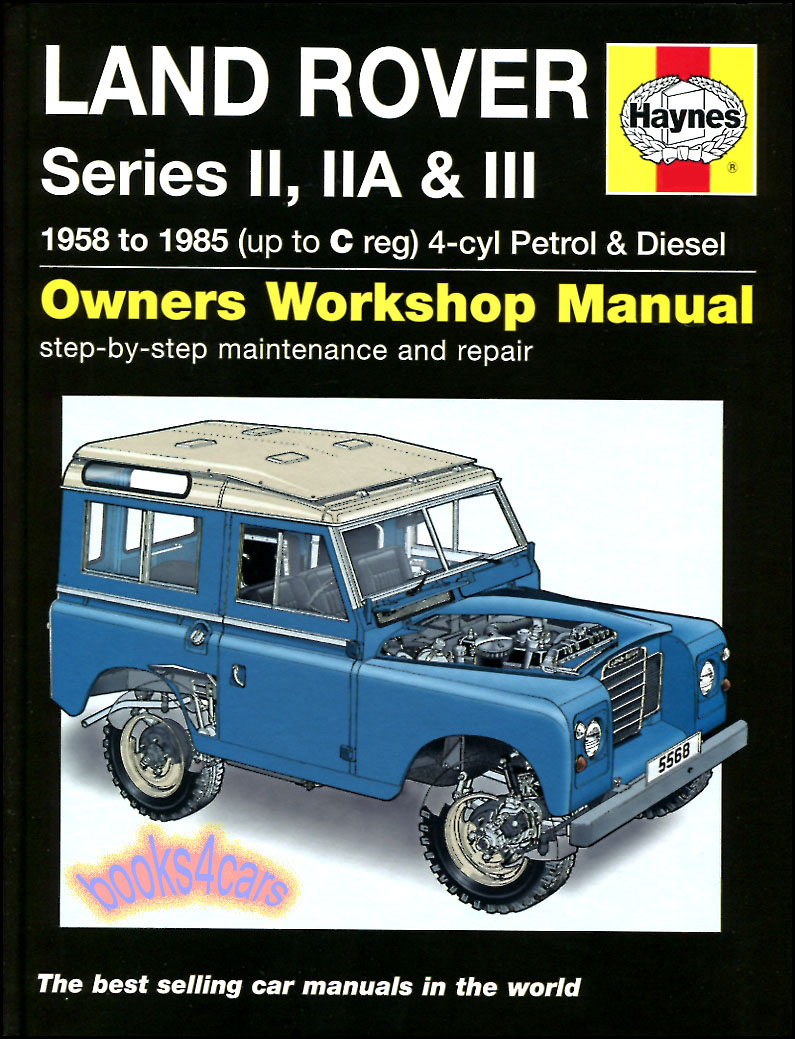 REAL HARDCOVER BOOK for all 1958-1985 Land Rover Gas & Diesel Series 2, 2A  & 3 Shop Service Repair Manual by Haynes 88 & 109 in. in New, never-opened  ...