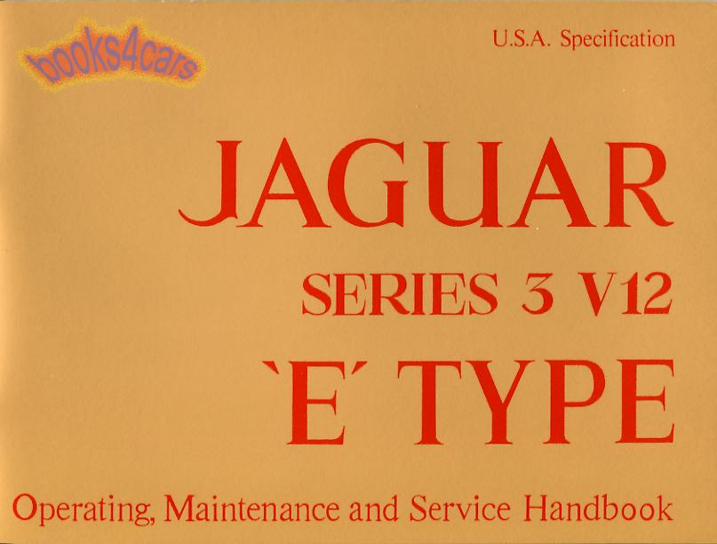 jaguar e type manuals at books4cars com rh books4cars com 1967 Jaguar XKE 1967 Jaguar XKE