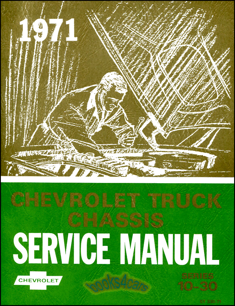 SHOP MANUAL SERVICE REPAIR 1971 CHEVROLET BOOK CHEVY TRUCK PICKUP GMC | eBay