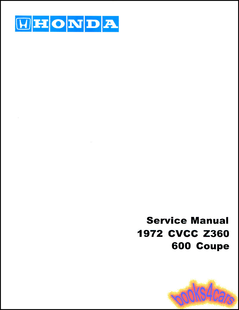 Honda Manuals At Cb125s Chilton Electrical Wiring Diagram Z360 600 Coupe Shop Service Repair Manual By 72 616231