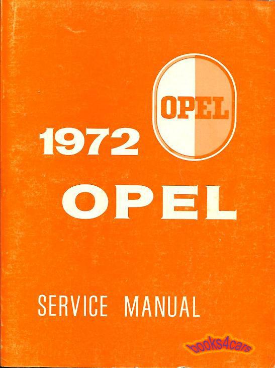 OPEL 1971 SHOP MANUAL SERVICE REPAIR BOOK GT 1900 MANTA ASCONA