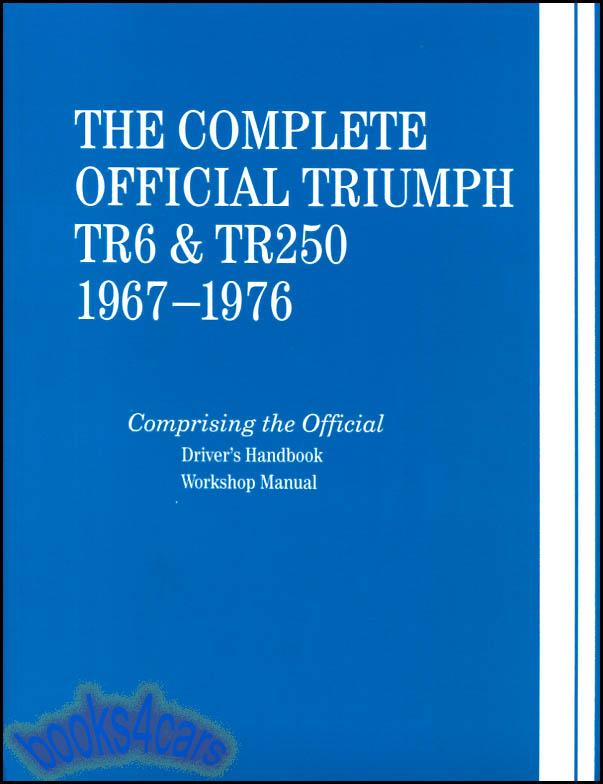 tr6 shop manual triumph service repair book bentley official rh ebay com triumph tr6 repair manual triumph tr6 repair manual pdf