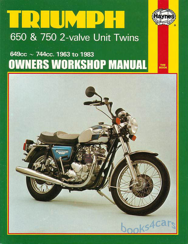 shop manual service repair triumph 750 650 haynes book bonneville rh ebay com 1969 Triumph 650 Bonneville 1971 650 Triumph Bonneville Carb Kit
