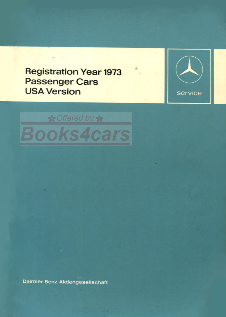 Mercedes Manuals At 1960 Pontiac Wiring Diagram 73 Usa New Items Service Technical Introduction Manual Passenger Cars By Svc