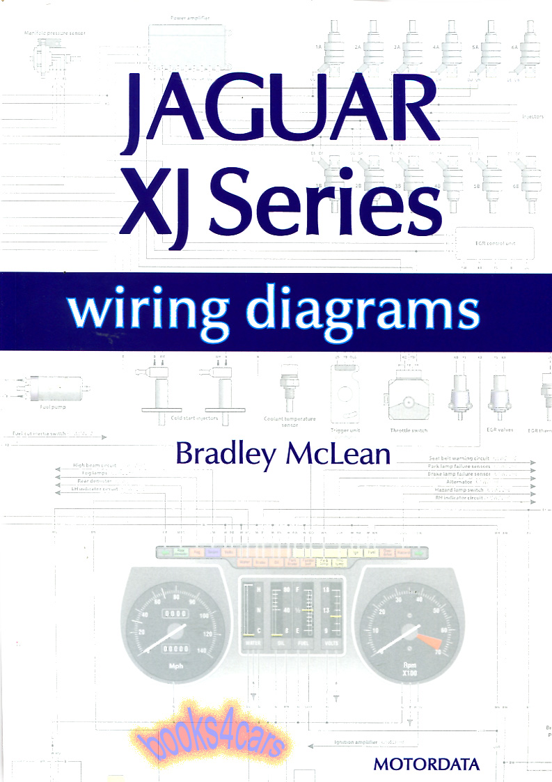 Headlight Wiring Diagram For 2005 Xj8 Library Avigo Electric Scooter Jaguar Electrical Diagrams Xjs Xj6 Xj12 Schematics Book Rh Ebay Com