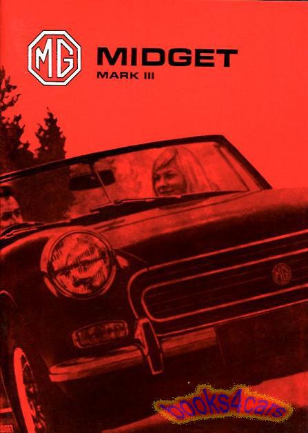mg midget mk3 wiring diagram midget owners manual mg 1974 handbook drivers guide book mark iii  midget owners manual mg 1974 handbook