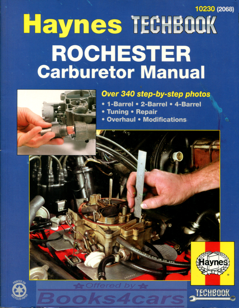 REAL BOOK Shop Service Repair Manual for Rochester Carburetors. Book is in  New, never-opened condition