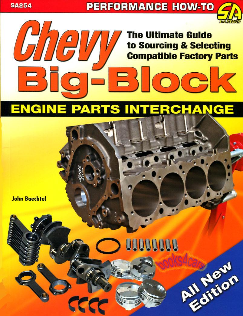 chevrolet big block interchange book engine parts baechtel 396 454 rh ebay com Silverado Manual Silverado Manual