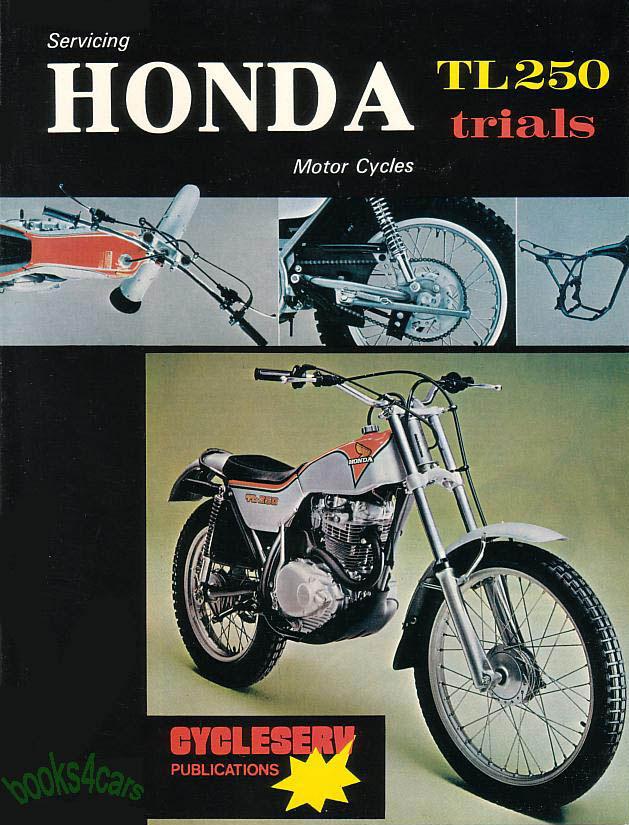 honda tl250 shop manual service repair book tl 250 75 1978 76 1977 rh ebay com 1965 Honda Trail 90 2011 Honda Trail Bike