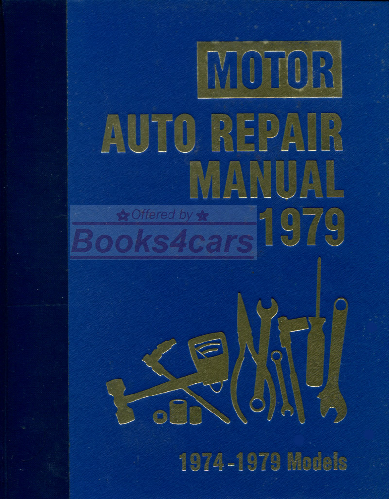 REAL LARGE HEAVY HARDCOVER BOOK over 1,300 page Professional Shop Service  Repair Manual for all 1974-1979 American Cars