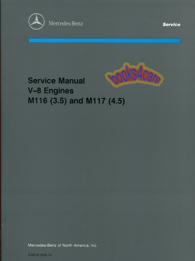 REAL ORIGINAL FACTORY BOOK Shop Service Repair Manual by Mercedes for all  1970-1979 Mercedes V8 engines 4.5 3.5 350 450 approx 400 pages heavy in  New, ...
