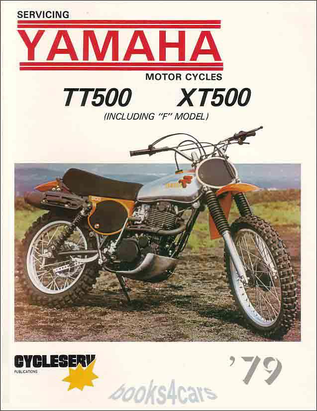 Details about YAMAHA SHOP MANUAL TT500 XT500 SERVICE REPAIR BOOK XT on