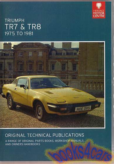 triumph shop service manuals at books4cars com rh books4cars com drake tr7 transceiver repair manual download triumph tr7 repair manual