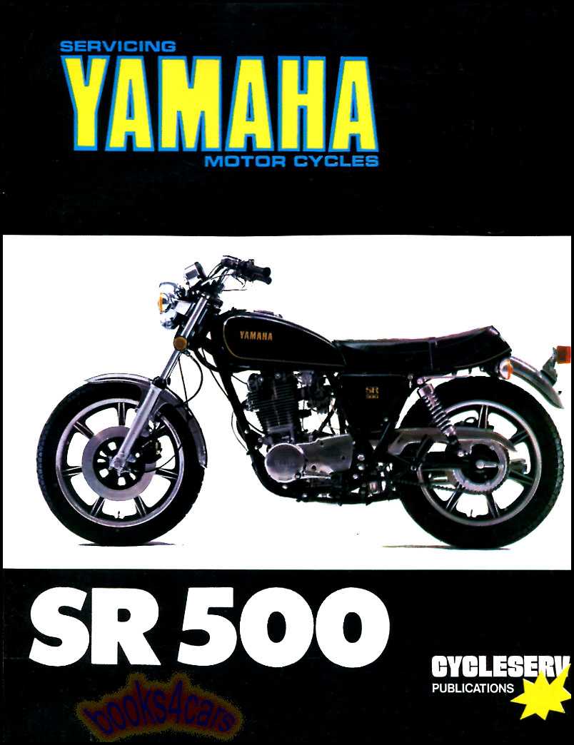 Yamaha Sr500 Shop Manual Service Repair Book Sr 500