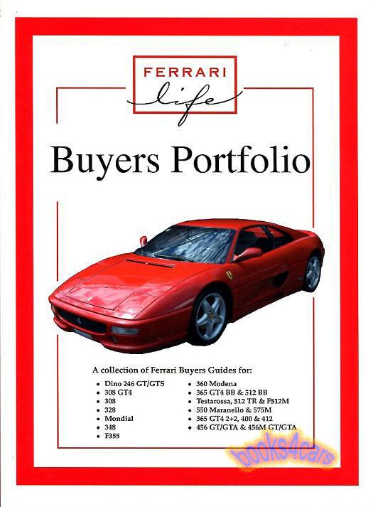 ferrari book buyers guide portfolio life v8. Black Bedroom Furniture Sets. Home Design Ideas