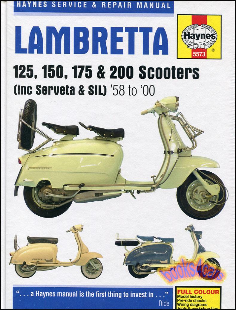lambretta shop manual service repair haynes book chilton scooter 125 rh ebay com Diesel Chilton Repair Manual PDF Chilton Repair Manuals PDF
