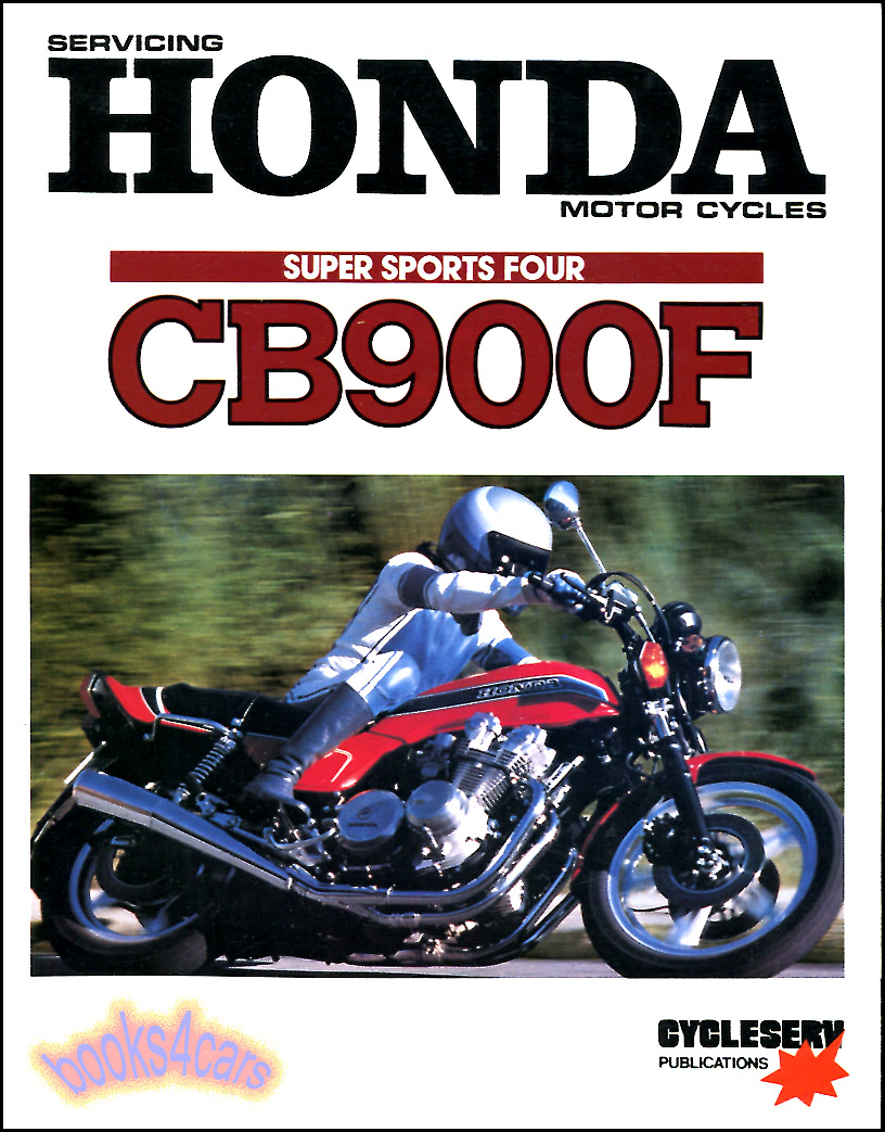 REAL BOOK 240 page Official Factory Shop Service Repair Manual by Honda for  all 1979 1980 1981 & 1982 CB900F 4 cylinder Motorcycle by Honda with repair  ...