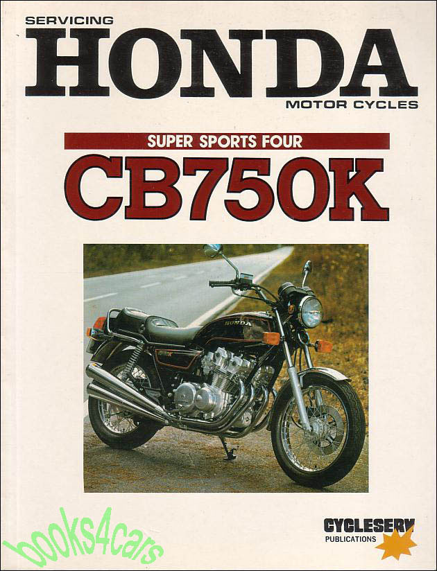 shop manual honda cb750k service repair book cb750 dohc ebay rh ebay com 1974 Honda CB750 1976 Honda CB750