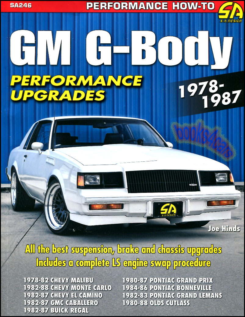 G Body Performance Manual Upgrades Shop Guide Book Hind 83