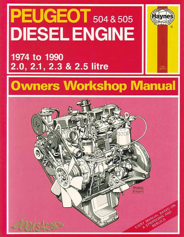 shop manual peugeot service repair diesel 505 504 xd2 xd2s xd3s xd90 rh ebay com Peugeot 306 Peugeot 108