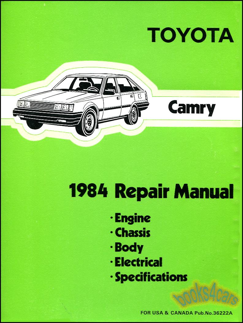 shop manual camry service repair toyota 1984 book haynes chilton ebay. Black Bedroom Furniture Sets. Home Design Ideas