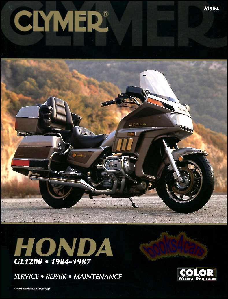 REAL BOOK 440 page Thick Shop Service Repair Manual for all 1984-1987 Honda  Goldwing GL1200 Motorcycles including Aspencade Interstate Limited Edition  ...