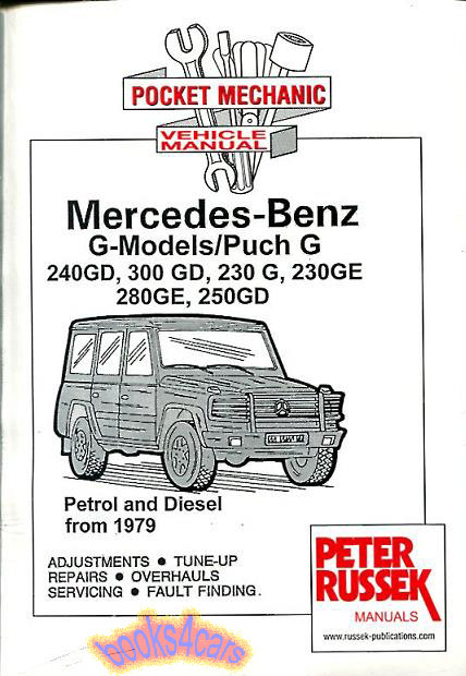 mercedes g wagen shop manual service repair book 300gd 280ge 240gd rh ebay com Mercedes- Benz W110 Mercedes- Benz W110